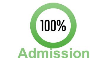 100% admission